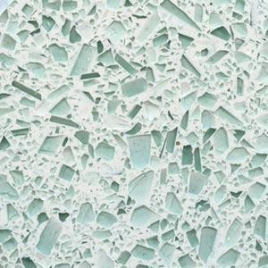 Auto Green Glass Terrazzo Sample