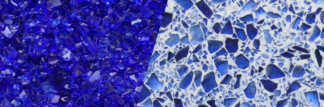 TERRAZZCO Cobalt Blue Glass Terrazzo