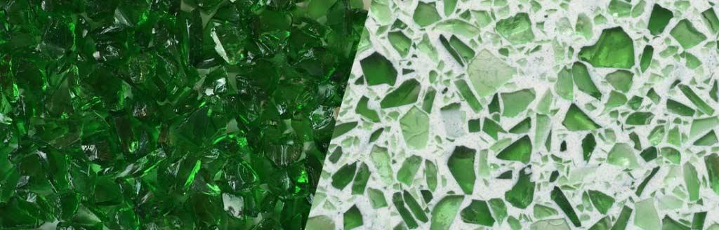 Emerald Green Glass Aggregate