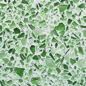 Emerald Green Glass Terrazzo Sample