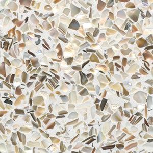 Freshwater Mother of Pearl Terrazzo Sample