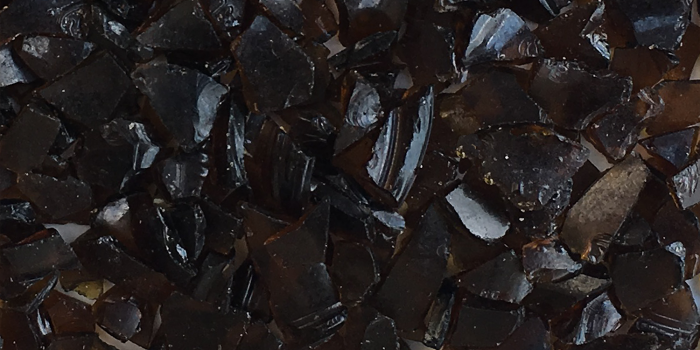 Recycled Amber Glas Chips Aggregate