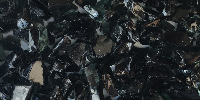 Recycled Auto Black Glass Chips Aggregate