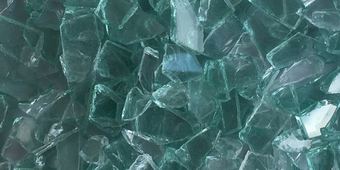 Recycled Auto Green Glass Chips Aggregate