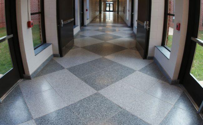 School Flooring - Epoxy Terrazzo Tile
