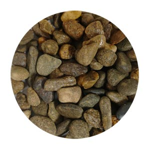 TERRAZZCO Chocolate Brown Pebbles Size 3
