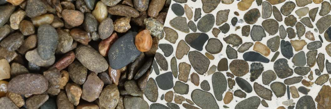 TERRAZZCO Chocolate Brown Pebbles