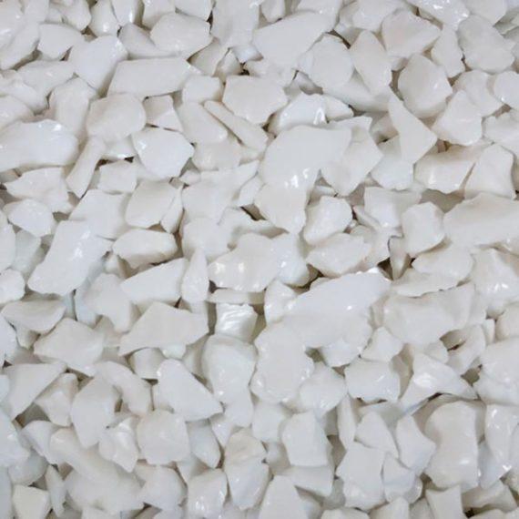TERRAZZCO Solid White Glass