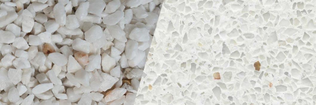 TERRAZZCO Pure White Aggregate Sample