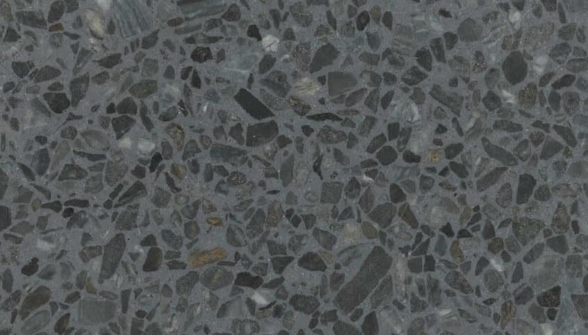 Monochrome Terrazzo Sample 1119 - Blue Gray
