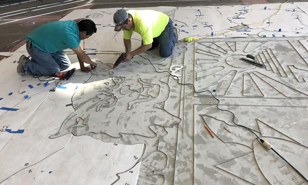 Terrazzo Floor Layout