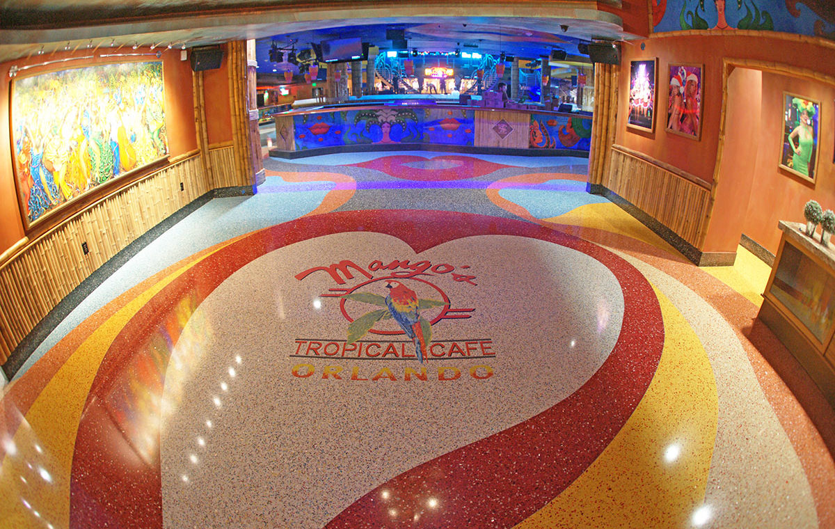 Mango's Tropical Cafe Nightclub Terrazzo Flooring