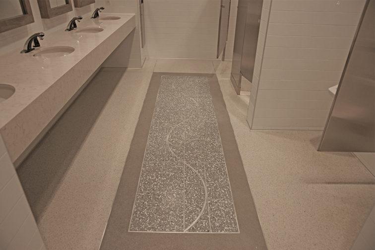 Commercial Restroom Water Resistant Flooring