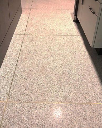 Brass Divider Strips in Terrazzo Floors