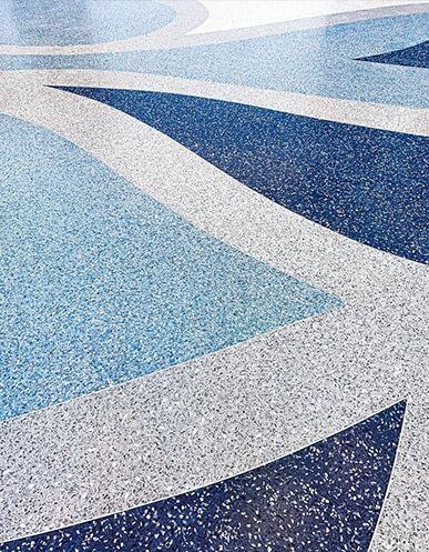 Epoxy Terrazzo Floor with Recycled Glass