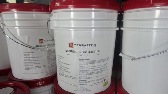 Groutless EZPour Epoxy Resin