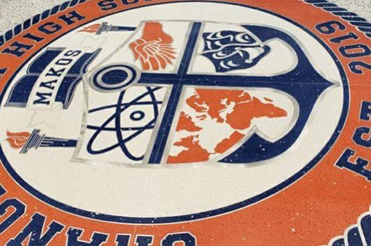 Orange Beach High School Terrazzo Logo
