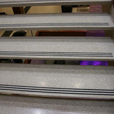 Terrazzo Self Supporting Stair Tread