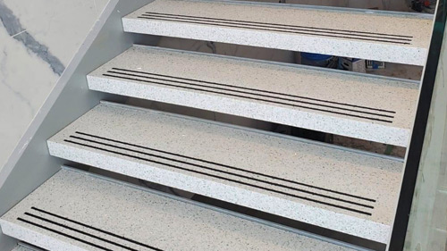 Terrazzo Self-Supporting Stair Tread