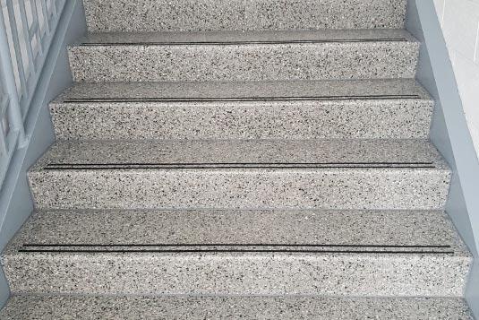 Terrazzo Stair Tread and Riser