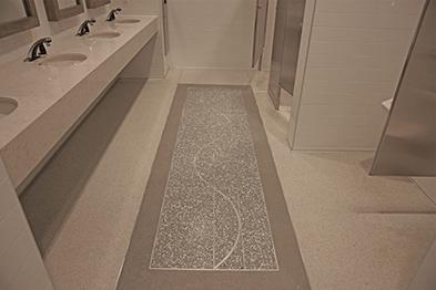 Commercial Restroom Water Resistant Terrazzo Flooring
