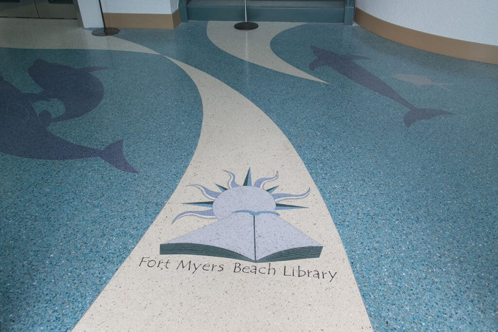 Ft. Myers Beach Library Terrazzo Floors