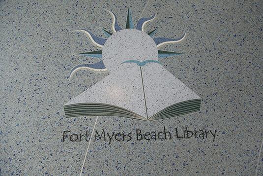Ft. Myers Beach Library Terrazzo Logo