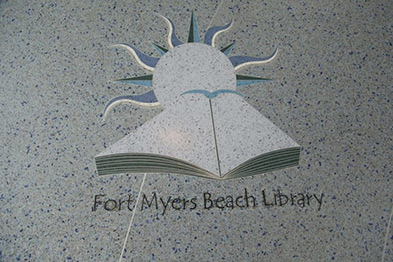 Ft. Myers Beach Library - Terrazzo Logo