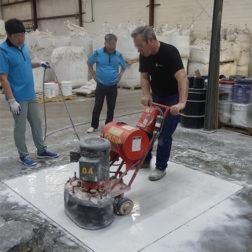 Terrazzo Installation - Polishing Terrazzo