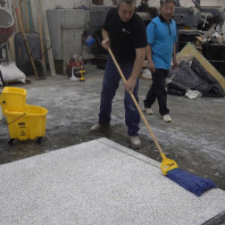 Terrazzo Installation - Sealing Terrazzo