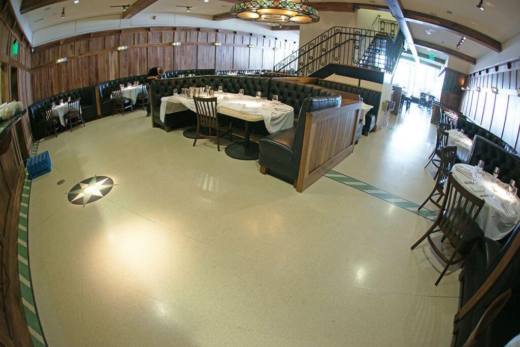 Seamless Antislip Epoxy Terrazzo Flooring for Stars on King Restaurant
