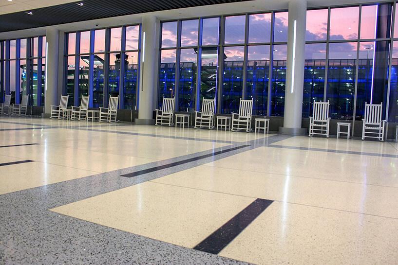 Terrazzo Floor CLT Airport
