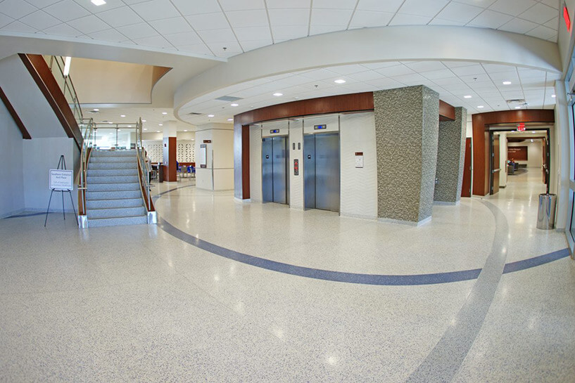 University of Memphis Seamless Terrazzo Floor
