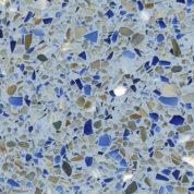 Semi-Exotic Architectural Hard Sample - Light Blue Terrazzo #117